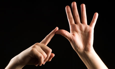 British sign language letter A